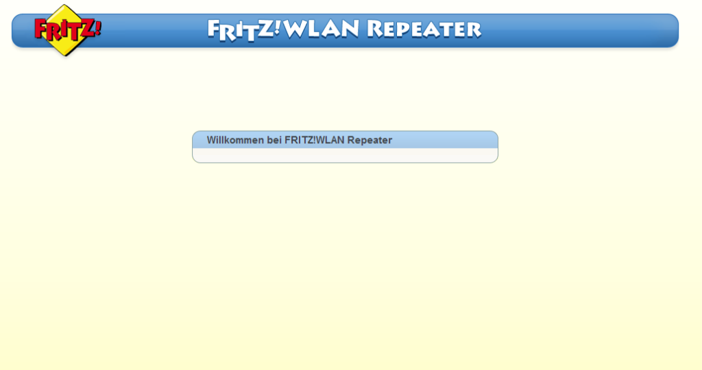 Fritz Repeater ohne Login